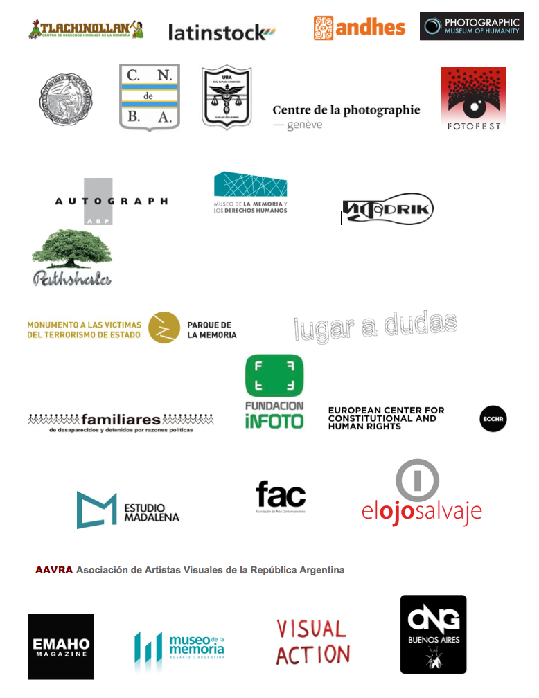 Logos Accion visual internacional Ayotzinapa