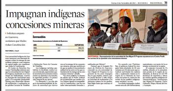 REFORMA_Impugnan_indigenas_concesiones_mineras