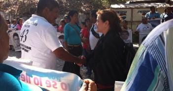 Visitan los expertos y expertas de la CIDH la Normal de Ayotzinapa, Guerrero. 2 de marzo de 2015.