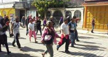 Marcha en Tixtla, Guerrero, México.