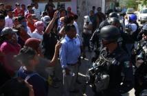 Operativo de la Policía Federal en la colonia Tepeyac, Tlapa, Guerrero, 7 de junio de 2015.