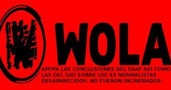 WOLA APOYA EL ESTUDIO DEL EAAF
