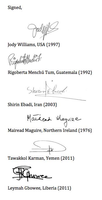 signed Nobel W