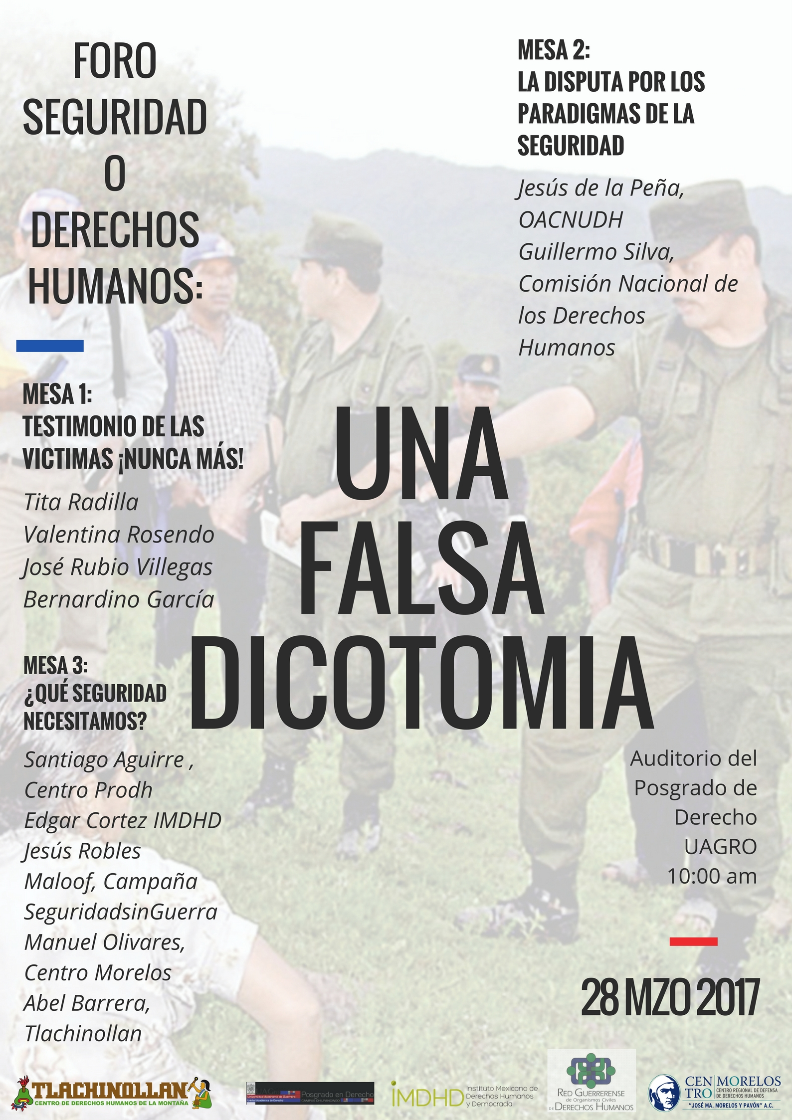 Foro Seguridad o Derechos Humanos