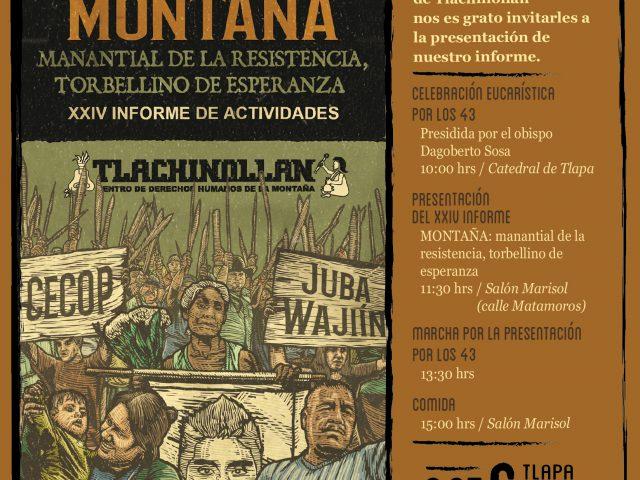 INVITACIÓN | Aniversario Tlachinollan | Montaña: Manantial de la resistencia, torbellino de esperanza