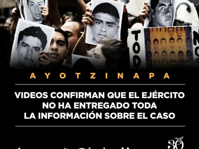 Comunicado | Ayotzinapa: Nueva información confirma la necesidad de investigar el papel del Ejército en el caso