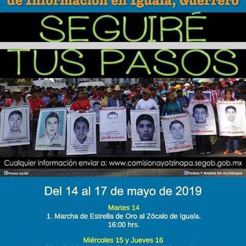 Invitación | Padres y Madres de los 43 anuncian jornada de Búsqueda de Información en Iguala Guerrero