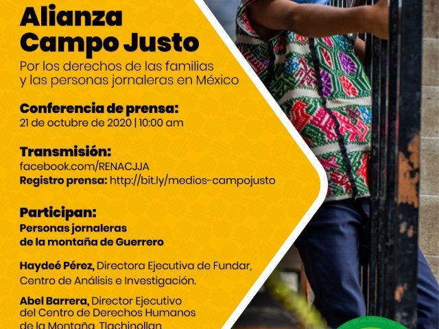 COMUNICADO | Alianza Campo Justo llama al Gobierno Federal a reconocer la labor de las personas jornaleras y a fijar un salario mínimo digno